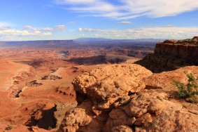 Distant view of the Colorado River, Canyonlands, Utah.