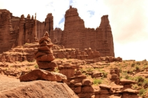 Rock Cairn, Fisher Towers, Utah