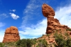 View of Balanced Rock, Arches National Park, Utah.