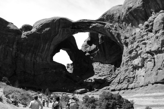 Double Arch, Arches National Park, Utah.