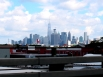 Hastily taken photo of Manhattan from the back seat of a car.
